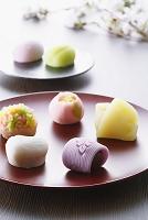 桜と和菓子