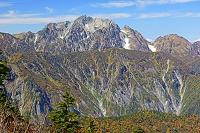 長野県 岩小屋沢岳の稜線から剣岳