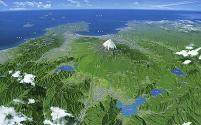 富士山・富士五湖 雲・文字情報有