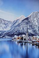 オーストリア 冬のハルシュタット