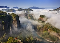 中国 武夷山 天遊峰からの眺望/雲海
