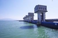 長崎県 諫早湾干拓北部排水門