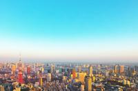 東京都 東京タワーと都市の夕景