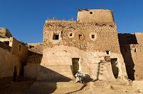 エジプト リビア砂漠 日干しレンガの家