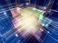 光線群によるスピード感あふれる異空間