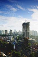 インドネシア ジャカルタ ビル街