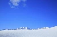 長野県 雪の北アルプス爺ヶ岳と鹿島槍ヶ岳