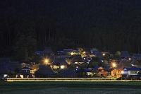 京都府 美山町 夜のかやぶき民家群