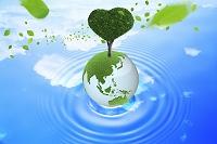 地球儀とハートの木