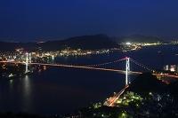 山口県 関門橋の夜景