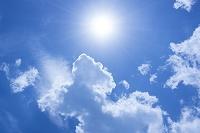 白い雲と青空