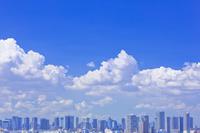 東京都 高層ビル群と積乱雲