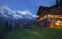 スイス ブライトホルンとロッジ
