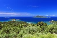 沖縄県 阿嘉島 サクバル奇岩群と久場島