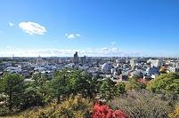 岡崎城天守から西方向を見る