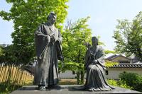 京都府 勝竜寺城 細川忠興・玉(ガラシャ)像