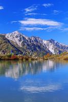 長野県 紅葉の八方池と白馬三山 八方尾根