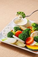 ブロッコリーの温野菜サラダ