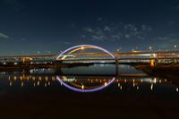東京都 江北橋より首都高速 五色桜大橋の夜景