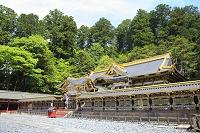 栃木県 日光東照宮の唐門と拝殿