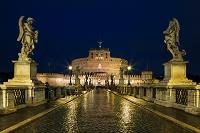 イタリア ローマ サンタンジェロ城の夜景