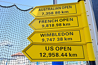 テニス四大大会の案内看板