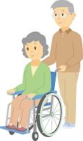 夫が妻を介護する老老介護