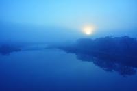 宮城県 朝日と霞の一目千本桜