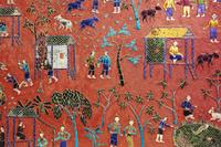 ラオス ワットシェントーンに書かれた壁画