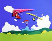 ハンググライダー   (ペーパークラフト)