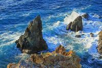 静岡県 黄金崎 波と岩