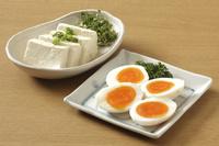 塩麹卵と塩麹豆腐