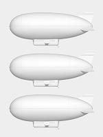 飛行船のモノクロ