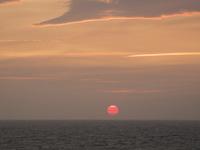 地中海の夕日