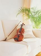 ヴァイオリンとソファー