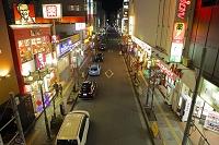 東京都 立川駅南口商店街夜景