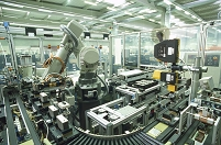 産業用ロボット 工場