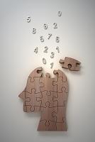 頭の形をちた木製のパズル