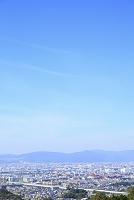 京都府 街並みと青空
