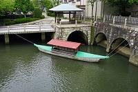 岐阜県 水門川と眼鏡橋