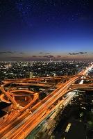 大阪府 東大阪JCTの夕景