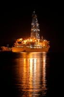 静岡県 清水港に停泊中の地球深部探査船ちきゅう