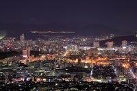 広島県 黄金山から広島市街の夜景