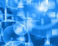 青い円形と四角 CG