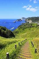 静岡県 奥石廊崎 ユウスゲ公園から見る駿河湾と海岸線