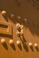 モロッコ マラケシュ 民家のドア 「ファティーマの手」 魔よ...