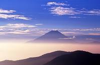 山梨県 櫛形山丸山林道から見た富士山