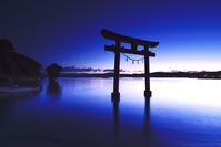北海道 瓶子岩と鳥居