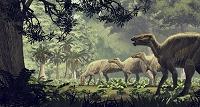 白亜紀後期 エドモントサウルス・アネクテンス CG