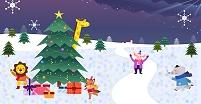 イラスト 動物のクリスマスイメージ